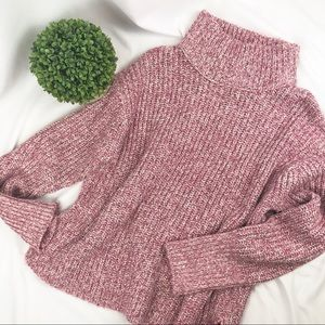 NWT Point Sur J. Crew cable knit mock neck sweater